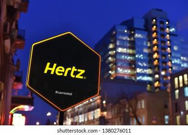 Kiev / Ukraine - 01.22.18: Sign of Hertz car rental