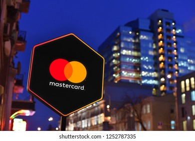 Kiev / Ukraine - 01.22.18: Sign of Mastercard financial services company