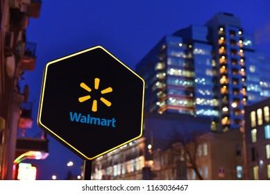 Kiev / Ukraine - 01.22.18: Sign of Walmart