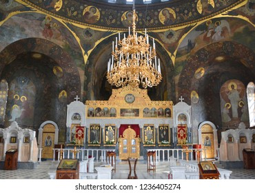 KIEV UKRAINE 09 03 17: Inside the Kiev Pechersk Lavra, Kyiv Pechersk Lavra or Kiev Monastery of the Caves, is a historic Orthodox Christian monastery which gave its name to one districts in Kiev