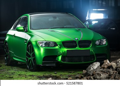 Kiev, Ukraine   14 May 2014: BMW M3 Coupe Tuning Sport Car.