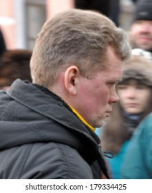 KIEV, UKRAINE � 16 FEBRUARY 2013: The Ukrainian minister of agrarian policy Ihor Shvaika walks in the parliament on February 16, 2013 in Kiev, Ukraine.