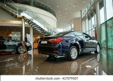 KIEV, UKRAINE - 21 APRIL : Presentation new Lexus ES 250 Executive Edition. Car showed in Kiev West Lexus Showroom on 21 April 2016