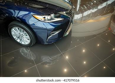KIEV, UKRAINE - 21 APRIL : Presentation new Lexus ES 250 Executive Edition. Part of car on photo. Car showed in Kiev West Lexus Showroom on 21 April 2016