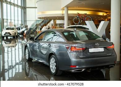 KIEV, UKRAINE - 21 APRIL : Presentation new Lexus GS 200t Executive Edition. Car showed in Kiev West Lexus Showroom on 21 April 2016