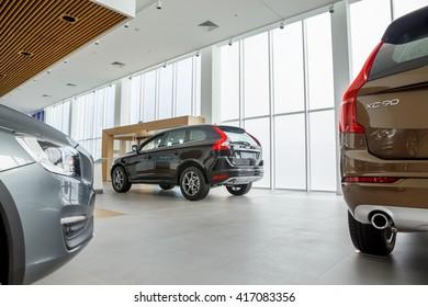 KIEV, UKRAINE - 27 APRIL : Presentation first official showroom Volvo in Ukraine. New model Volvo in showroom. 27 April 2016, Kiev, Ukraine.