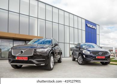 KIEV, UKRAINE - 27 APRIL : Presentation first official showroom Volvo in Ukraine. New model Volvo XC90 and XC60 in showroom. 27 April 2016, Kiev, Ukraine.