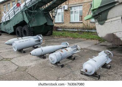 Kiev, Ukraine - 29, October, 2017: Soviet military air equipment, museum exposition