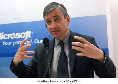 KIEV, UKRAINE - APR 07: Jean-Philippe Courtois President Microsoft International an press conference at a office Microsoft, April 07, 2010 in Kiev, Ukraine.