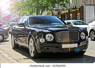 Kiev, Ukraine; April 20, 2015. Bentley Mulsanne. Editorial photo.