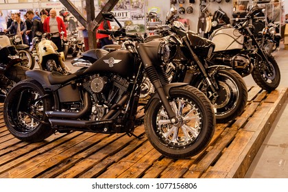 Kiev, Ukraine April 20, 2018, motobike is represented at an exhibition held in the International Exhibition Center