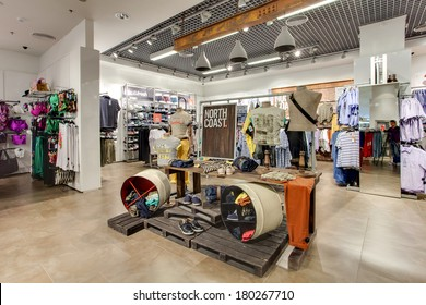 KIEV, UKRAINE - APRIL 22: Marks &  Spencer shop on April 22, 2013 in Kiev, UKRAINE. M&S is a major retailer with 1,010 stores in 41 countries. It specializes in fashion and luxury goods.