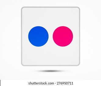 KIEV, UKRAINE - APRIL 24, 2015: Flickr logotype  on pc screen. Flickr - photo sharing site for storing user and further use of digital photos and videos.