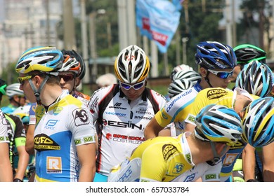 Kiev, Ukraine - April 24: International cycling race Horizon Park, on April 24, 2017 in Kiev, Ukraine