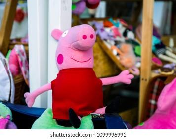 Kiev, Ukraine - April 28, 2018: Peppa Pig soft toy