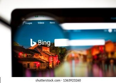 Kiev, Ukraine - april 5, 2019: Bing.com website homepage. It is a web search engine owned and operated by Microsoft. Bing logo visible