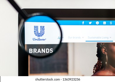 Kiev, Ukraine - april 6, 2019: Unilever website homepage. It is a Dutch-British transnational consumer goods company. Unilever logo visible