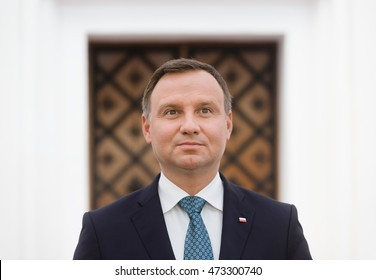 KIEV, UKRAINE - Aug 24, 2015: President of the Republic of Poland Andrzej Duda during his visit to Ukraine