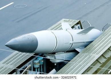 Kiev, Ukraine - August 20, 2008. Ballistic Missile Complex Tochka-U before the parade.