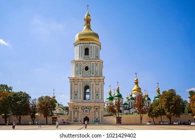 KIEV, UKRAINE - August  20, 2013: Front view St. Mikhail's minster chapel