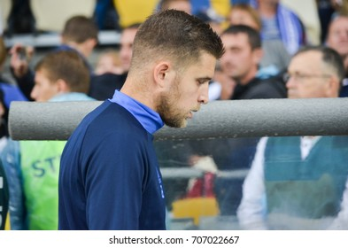 KIEV, UKRAINE - August 24, 2017: Artem Kravets during the UEFA Europa League match between Dynamo Kyiv vs CS Maritimo (Portugal), Ukraine