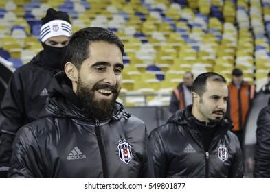 KIEV, UKRAINE - DEC 06: Player during the UEFA Champions League match between Dynamo Kiev vs Besiktas (Istanbul, Turkey), Kiev, Ukraine