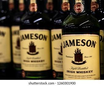 KIEV, UKRAINE - Dec 16, 2018:Jameson irish whiskey in the store