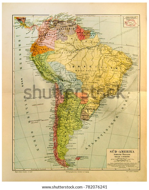 Map Of South America 2017.Kiev Ukraine Dec 26 2017 Illustrative Stock Photo Edit Now 782076241