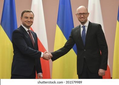 KIEV, UKRAINE - December 15, 2015:  Official visit of the President of the Republic of Poland Andrzej Duda in Ukraine