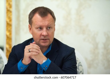 KIEV, UKRAINE - Feb 10, 2017: Russian politician and businessman Putin critic Denis Voronenkov. Former Deputy of the State Duma of Russia, member of faction. Ex-Russia MP Denis Voronenkov killed