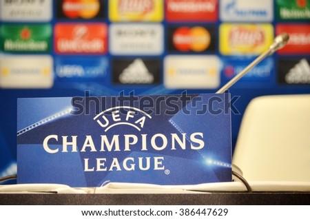 Kiev UKRAINE FEB 24 Champions League Stock Photo (Edit Now