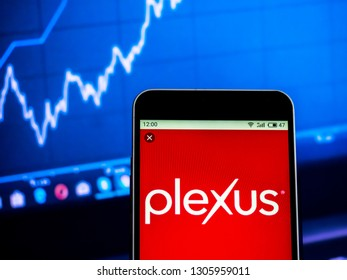KIEV, UKRAINE - Feb 6, 2019: Plexus Corp. Company logo seen displayed on smart phone
