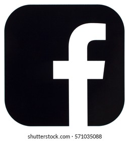KIEV, UKRAINE - FEBRUARY 03, 2017: Collection of popular social media logos printed on paper: Facebook