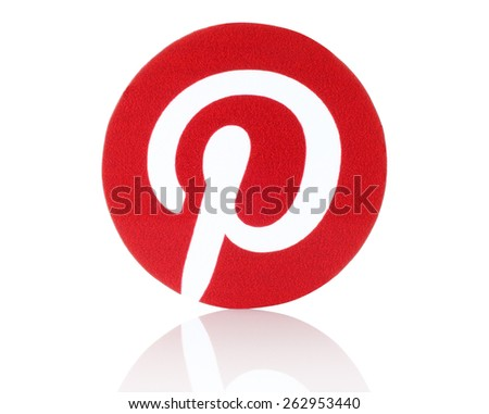 KIEV, UKRAINE - FEBRUARY 19, 2015:Pinterest logotype printed on paper. Pinterest is photo sharing website.