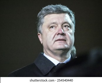 KIEV, UKRAINE - February 20, 2015: President of Ukraine Petro Poroshenko