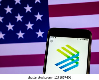 KIEV, UKRAINE - Jan 22, 2019: Enable Midstream Partners Company logo seen displayed on a smart phone