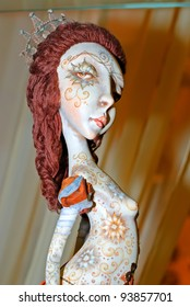 KIEV, UKRAINE - JANUARY 09: A collectible doll, which resembles an ethnic goddess detailed, is on display at the Angel Age exhibit of Author's Dolls on January 09, 2012 in Kiev, Ukraine.