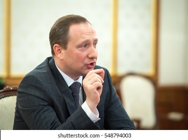 KIEV, UKRAINE - January04, 2017: Head of Presidential Administration of Ukraine Ihor Rainin during a meeting at the Presidential Administration of Ukraine.