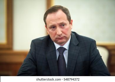 KIEV, UKRAINE - January04, 2017: Head of Presidential Administration of Ukraine Ihor Rainin during a meeting at the Presidential Administration of Ukraine.