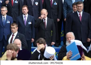 KIEV, UKRAINE, July, 27, 2013 -Russian President V.Putin attended a ceremony celebrating the 1025 anniversary of the Baptism of Kievan Rus'