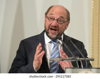 KIEV, UKRAINE - JULY, 3, 2015: President of the European Parliament Martin Schulz during his visit to Kiev