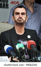 KIEV, UKRAINE - JUNE 3: Ringo Starr during his concert tour in Kiev, Ukraine on June 3, 2011.