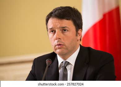 KIEV, UKRAINE - Mar. 04, 2015: Prime Minister of Italy Matteo Renzi during a meeting with the President of Ukraine Petro Poroshenko in Kiev