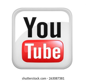 KIEV, UKRAINE - MARCH 08, 2015: YouTube logotype printed on paper. YouTube is a video-sharing website headquartered in San Bruno, California.