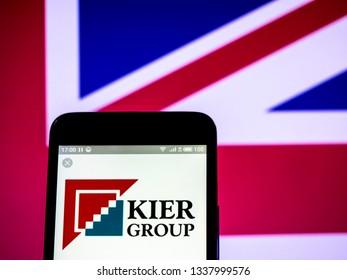 KIEV, UKRAINE - March 13, 2019: Kier Group plc company logo seen displayed on smart phone.