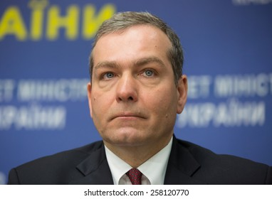 KIEV, UKRAINE - MARCH, 5, 2015: Lead Economist with the Human Development Unit, ECA Region, and Sector Leader for the Human Development Program in Ukraine, Belarus and Moldova  Paolo Carlo Belli