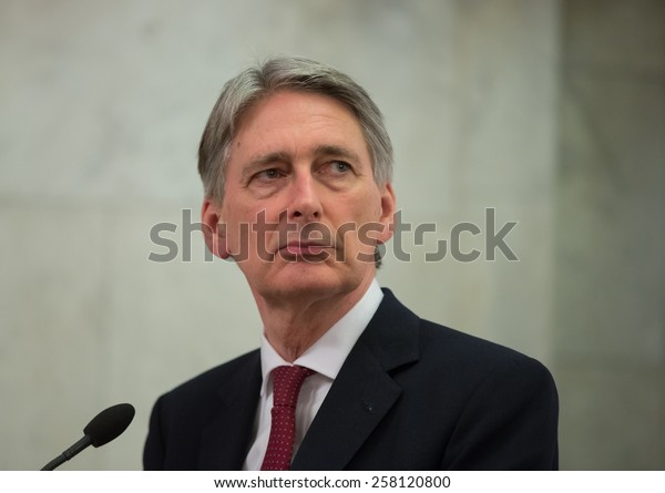KIEV, UKRAINE - MARCH, 5, 2015: Secretary of State for Foreign and Commonwealth Affairs Philip Hammond