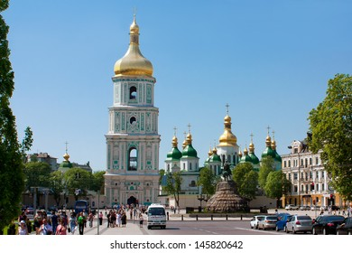 KIEV, UKRAINE - MAY 1: Saint Sophia's Cathedrall on May 1, 2012 in Kyiv, Ukraine. Saint Sophia is a cathedral temple of Kiev Metropolis in 1037-1299 and second one after the Church of the Tithes.