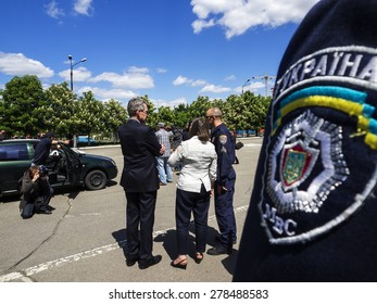 KIEV, UKRAINE - MAY 16, 2015: US Assistant Secretary of State for European and Eurasian Affairs Victoria Nuland visits Institute for Police training