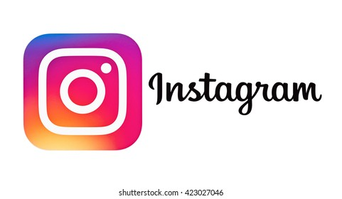Kiev, Ukraine - May 18, 2016: New Instagram logotype camera icon,new colourful logo  printed on paper. Instagram - free application for sharing photos and videos with the elements of a social network.